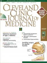 Cleveland Clinic Journal of Medicine: 66 (4)