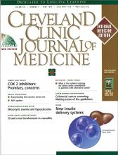 Cleveland Clinic Journal of Medicine: 66 (5)