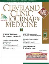 Cleveland Clinic Journal of Medicine: 66 (7)
