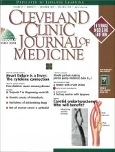 Cleveland Clinic Journal of Medicine: 67 (11)