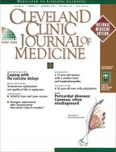 Cleveland Clinic Journal of Medicine: 67 (12)