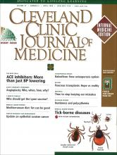 Cleveland Clinic Journal of Medicine: 67 (4)