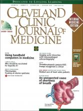 Cleveland Clinic Journal of Medicine: 68 (10)