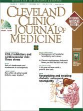 Cleveland Clinic Journal of Medicine: 68 (11)