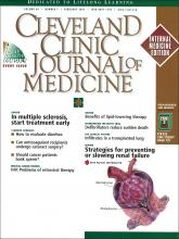 Cleveland Clinic Journal of Medicine: 68 (2)