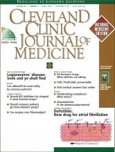 Cleveland Clinic Journal of Medicine: 68 (4)