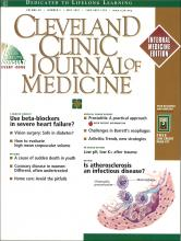 Cleveland Clinic Journal of Medicine: 68 (5)