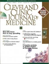 Cleveland Clinic Journal of Medicine: 68 (6)