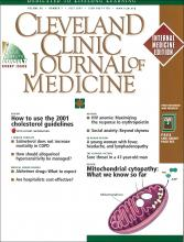 Cleveland Clinic Journal of Medicine: 68 (7)
