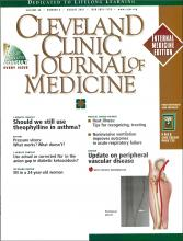 Cleveland Clinic Journal of Medicine: 68 (8)