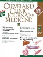 Cleveland Clinic Journal of Medicine: 69 (10)