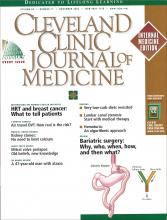 Cleveland Clinic Journal of Medicine: 69 (11)