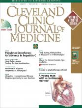 Cleveland Clinic Journal of Medicine: 69 (2)