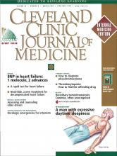 Cleveland Clinic Journal of Medicine: 69 (3)