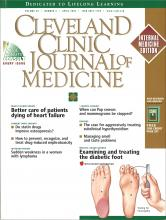 Cleveland Clinic Journal of Medicine: 69 (4)