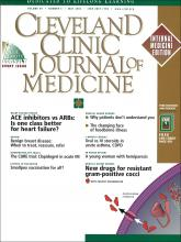 Cleveland Clinic Journal of Medicine: 69 (5)