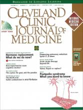 Cleveland Clinic Journal of Medicine: 69 (9)