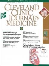 Cleveland Clinic Journal of Medicine: 70 (10)