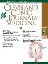 Cleveland Clinic Journal of Medicine: 70 (11)