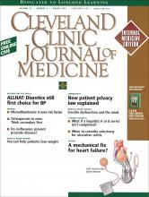 Cleveland Clinic Journal of Medicine: 70 (3)
