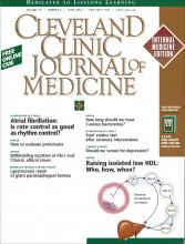 Cleveland Clinic Journal of Medicine: 70 (6)
