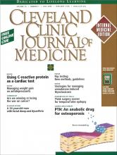 Cleveland Clinic Journal of Medicine: 70 (7)