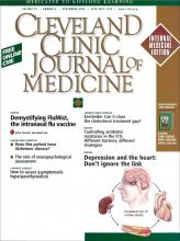 Cleveland Clinic Journal of Medicine: 70 (9)