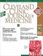 Cleveland Clinic Journal of Medicine: 71 (1)