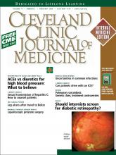 Cleveland Clinic Journal of Medicine: 71 (2)