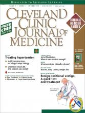 Cleveland Clinic Journal of Medicine: 71 (9)