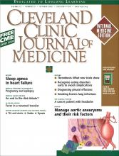 Cleveland Clinic Journal of Medicine: 72 (10)