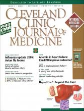 Cleveland Clinic Journal of Medicine: 72 (11)