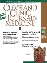 Cleveland Clinic Journal of Medicine: 72 (2)