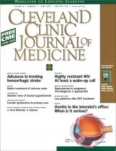 Cleveland Clinic Journal of Medicine: 72 (4)