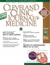Cleveland Clinic Journal of Medicine: 72 (6)