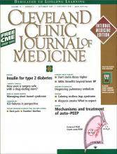 Cleveland Clinic Journal of Medicine: 72 (9)