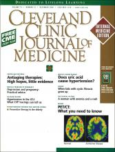 Cleveland Clinic Journal of Medicine: 73 (12)