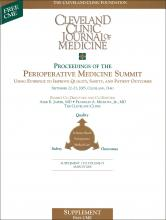 Cleveland Clinic Journal of Medicine: 73 (3 suppl 1)