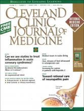 Cleveland Clinic Journal of Medicine: 73 (8)