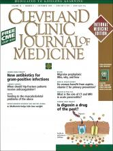 Cleveland Clinic Journal of Medicine: 73 (9)