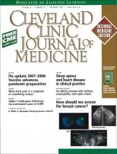 Cleveland Clinic Journal of Medicine: 74 (12)