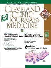 Cleveland Clinic Journal of Medicine: 74 (3)