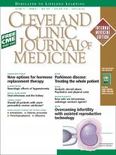 Cleveland Clinic Journal of Medicine: 74 (5)