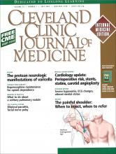 Cleveland Clinic Journal of Medicine: 74 (7)