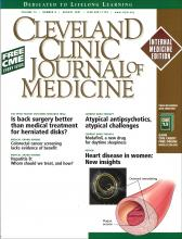 Cleveland Clinic Journal of Medicine: 74 (8)