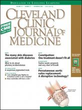 Cleveland Clinic Journal of Medicine: 75 (11)