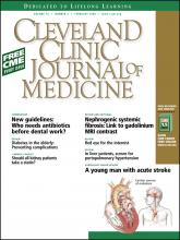 Cleveland Clinic Journal of Medicine: 75 (2)