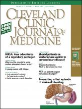 Cleveland Clinic Journal of Medicine: 75 (3)