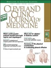 Cleveland Clinic Journal of Medicine: 75 (4)