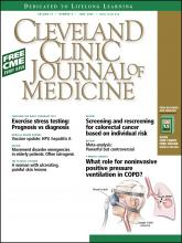 Cleveland Clinic Journal of Medicine: 75 (6)